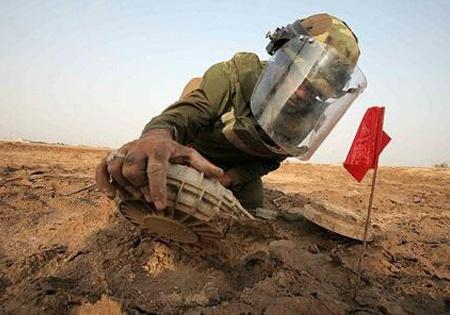 پاکسازی آلودهترین منطقه مین در استان خوزستان
