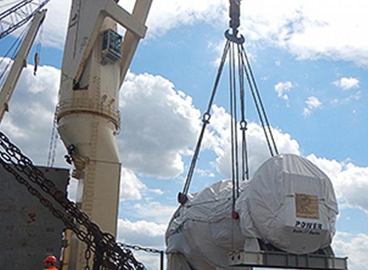 اولین محموله توربینهای گازی زیمنس به مقصد بندرعباس بارگیری شد