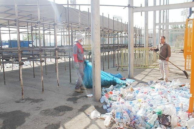 زباله ورزشگاه