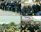برگزاری سالگرد درگذشت هادی نوروزی در زیر بارش شدید باران