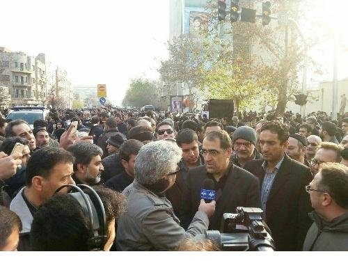 وزیر بهداشت در مراسم تشییع آقای هاشمی رفسنجانی