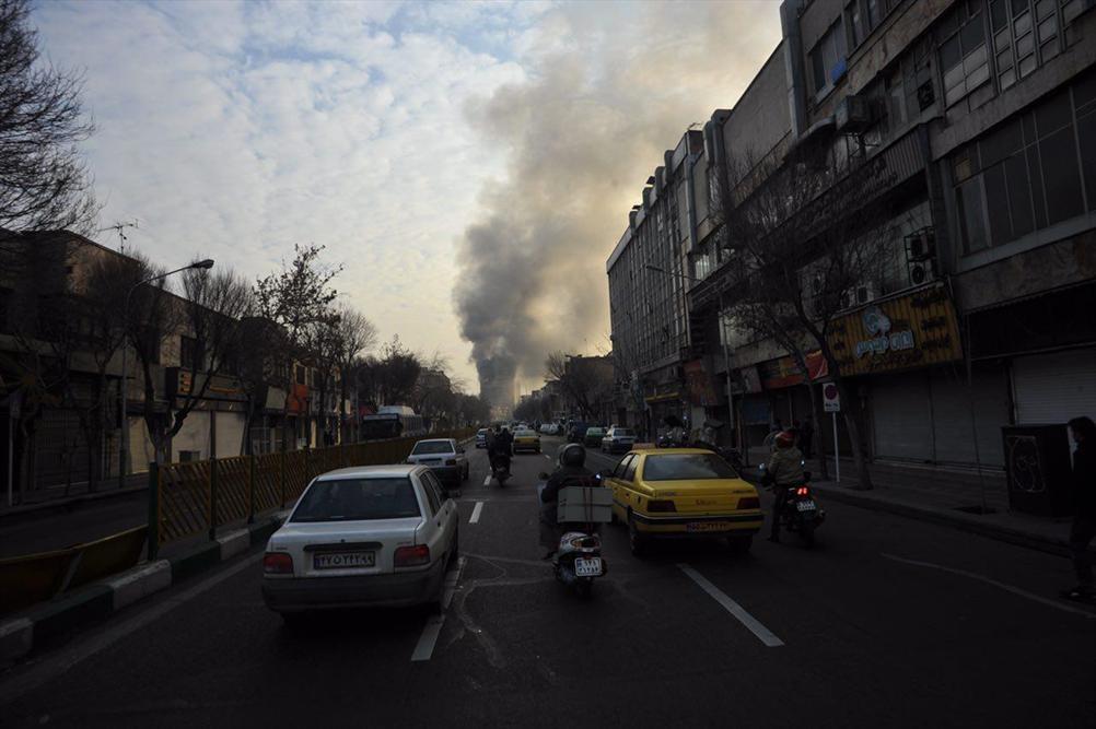 گزارش تصویری از اولین ساعات حادثه آتش سوزی ساختمان پلاسکو