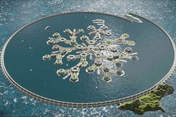 ساخت نخستین شهر شناور جهان در اقیانوس آرام