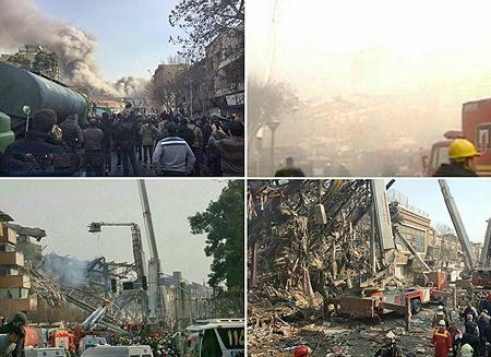 آتش سوزی و فرو ریختن ساختمان پلاسکو