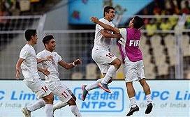 سومین پیروزی نوجوانان در جام جهانی فوتبال