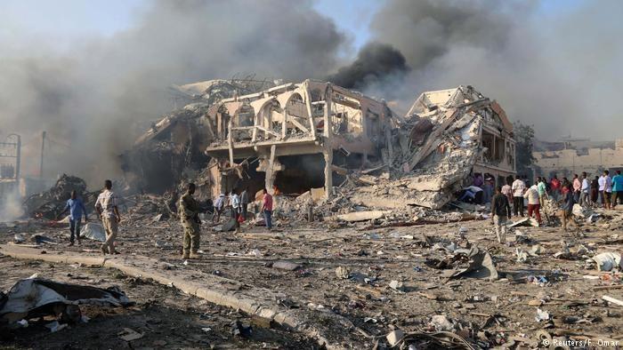 حمله مهیب انتحاری در پایتخت سومالی با بیش از ۱۸۹ کشته