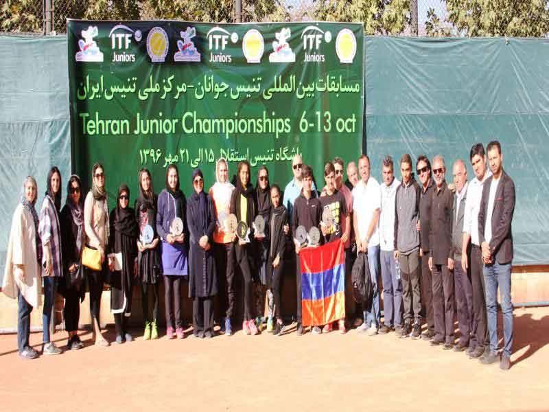 تنیس بینالمللی جوانان/ تهران؛ تنیسورهای ایرانی سوم شدند