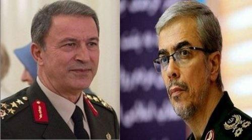 رئیس ستاد ارتش ترکیه و سرلشکر باقری