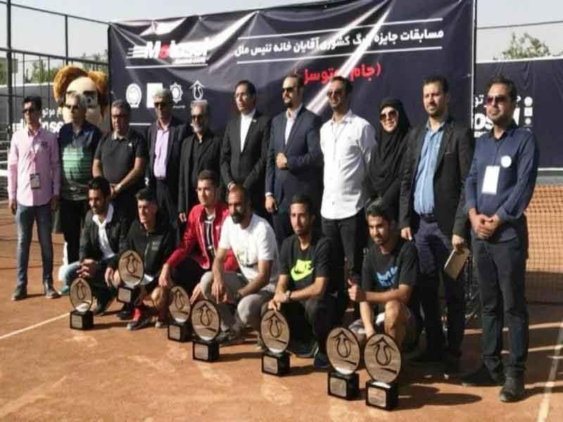 امیرحسین بادی قهرمان تنیس جایزه بزرگ اصفهان شد