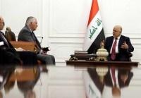 دفاع العبادی از نیروهای بسیج مردمی عراق در دیدار با وزیر خارجه آمریکا