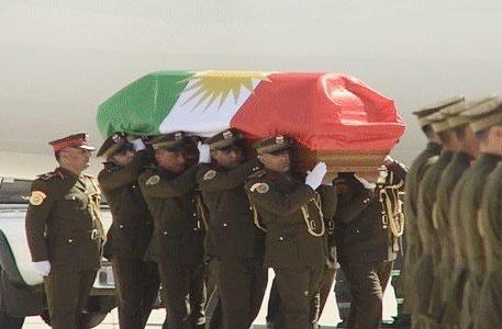پیکر جلال طالبانی با حضور گسترده مردم و شخصیتهای بین المللی به خاک سپرده شد