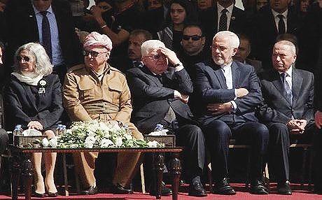 ظریف در مراسم جلال طالبانی