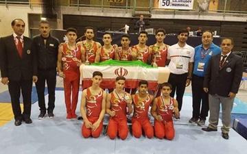 قهرمانی تیم ملی ژیمناستیک بزرگسالان ایران در رقابتهای بینالمللی اسلوونی