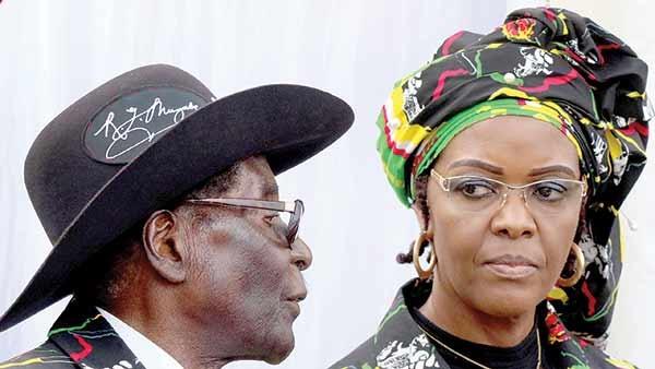 موگابه و همسرش- زیمبابوه