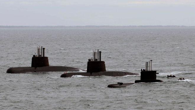 دریافت سیگنالهای احتمالی از زیردریایی مفقود شده آرژانتینی