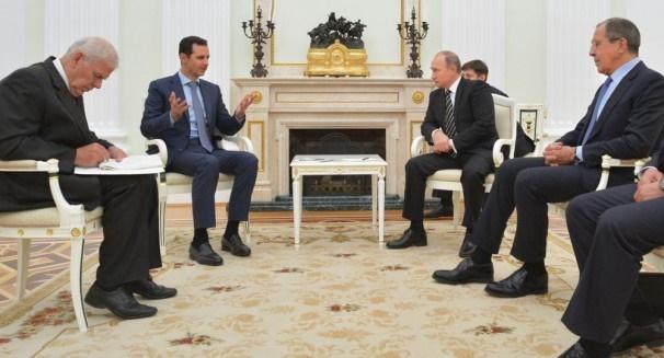 دیدار بشار اسد با پوتین در سوچی