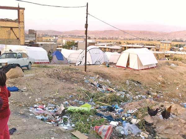 زلزله-کرمانشاه-زباله