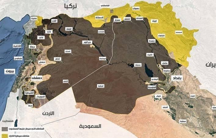 وضعیت حکومت داعش در عراق و سوریه