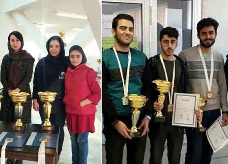 قهرمانان شطرنج زیر ۲۰ سال کشور معرفی شدند