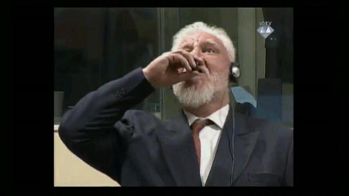 جلسه دادگاه لاهه بخاطر نوشیدن سم توسط متهم به جنایات جنگی به تعویق افتاد
