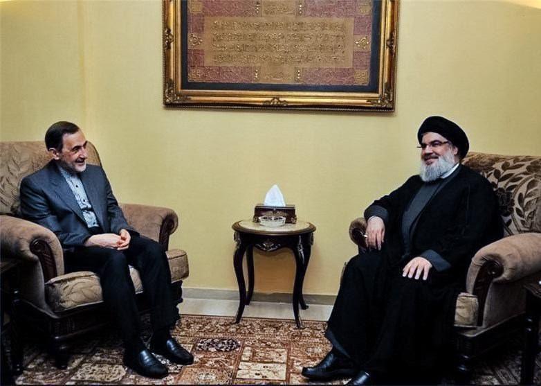 مشاور بین الملل رهبر معظم انقلاب با سید حسن نصرالله دیدار کرد