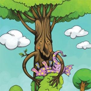 فیل و درخت
