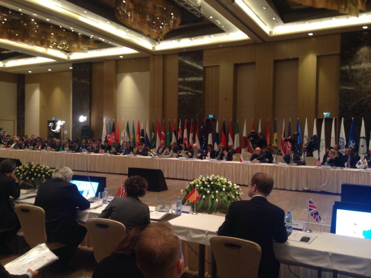 اجلاس قلب آسیا با حضور مقامات ۴۰ کشور و سازمان بین المللی در باکو آغاز شد