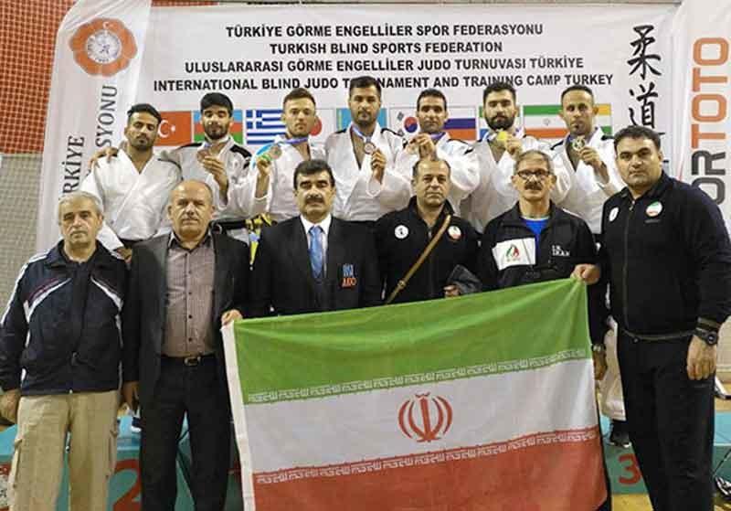 تیم جودوی نابینایان و کمبینایان قهرمان رقابتهای بینالمللی ترکیه شد
