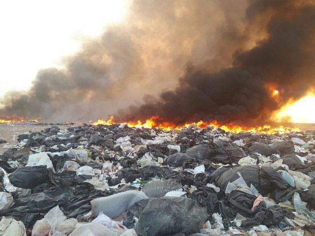 زبالهسوزی در حاشیه جنوبی شهر تهران