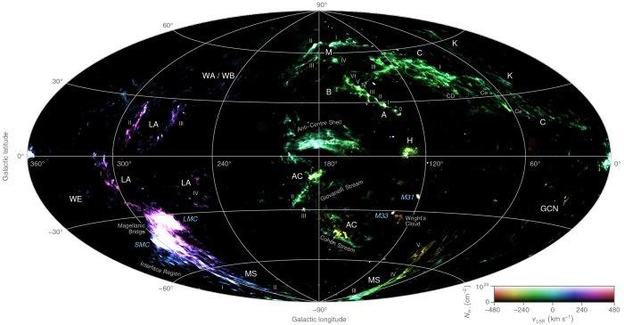 نقشهبرداری از ابرهای مرموز کهکشان راه شیری