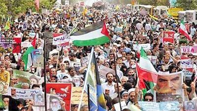 ۱۷ آذر در سراسر ایران | تظاهرات ضد آمریکایی ـ صهیونیستی مردم