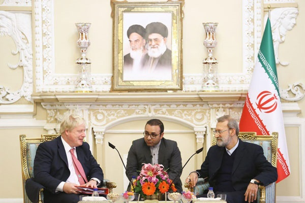 وزیر خارجه انگلیس با رئیس مجلس دیدار کرد