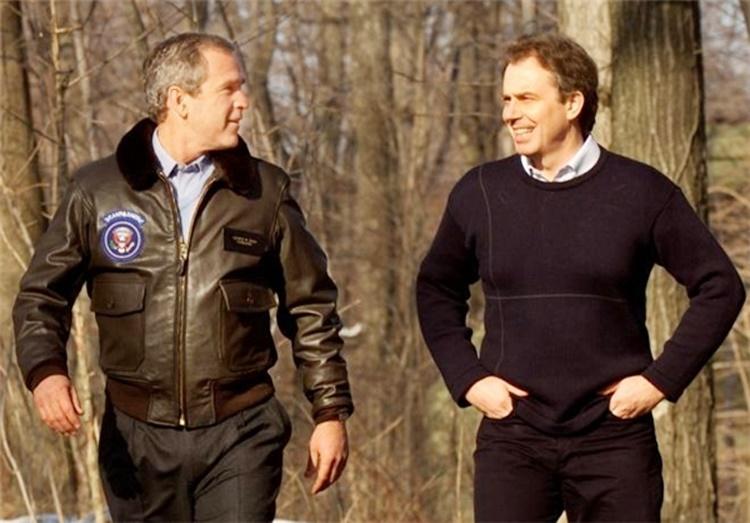 تونی بلر و جورج دبیلیو بوش