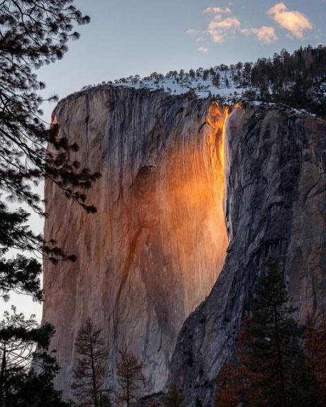 عکس روز: آبشار آتش در پارک ملی یوسمیت