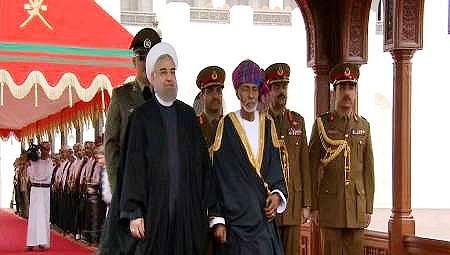 استقبال رسمی سلطان قابوس از روحانی