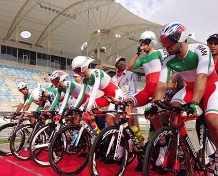 چهارمی رکابزنان ایران در تایم تریل تیمی آسیا