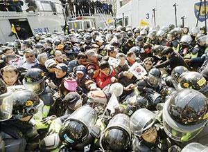 ۲ کشته در روز برکناری رئیسجمهور کرهجنوبی
