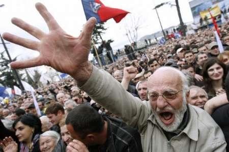 ادامه ناآرامی درگرجستان | ۴۰ تن دستگیر شدند