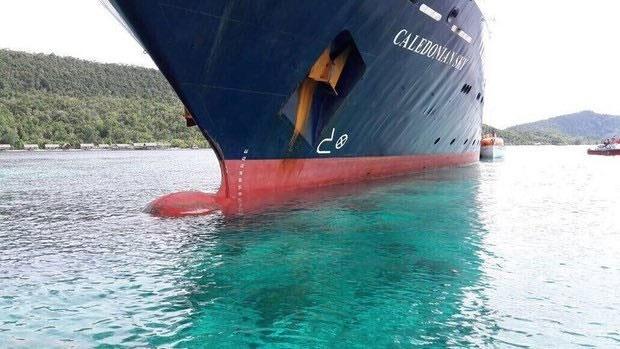 برخورد کشتی تفریحی با غنیترین صخرههای مرجانی در اندونزی