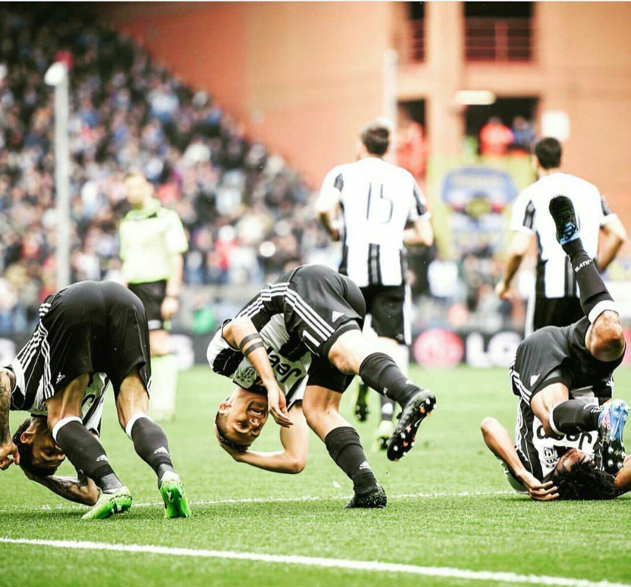عکس | شادی جالب بازیکنان یوونتوس بعد از گلزنی مقابل سامپدوریا