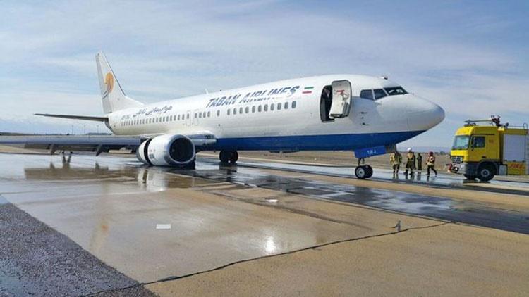 جزئیات مشکل لاستیک بوئینگ ۷۳۷ هواپیمای تابان | مسافران سالم هستند