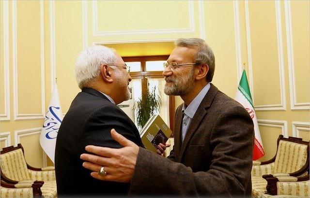 ظریف به دیدار عیدانه لاریجانی رفت
