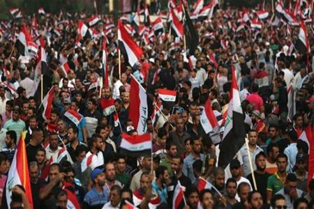 تظاهرات طرفداران مقتدی صدر در بغداد
