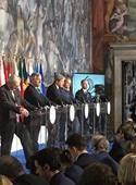 سران اروپا در مراسم شصتمین سالگرد امضای پیمان رم  بدون بریتانیا