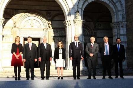 نشست وزرای خارجه گروه۷در ایتالیا | آلفانو: راه حل بحران سوریه سیاسی است