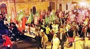 تظاهرات یهودیان و اعراب علیه اشغال در قدس