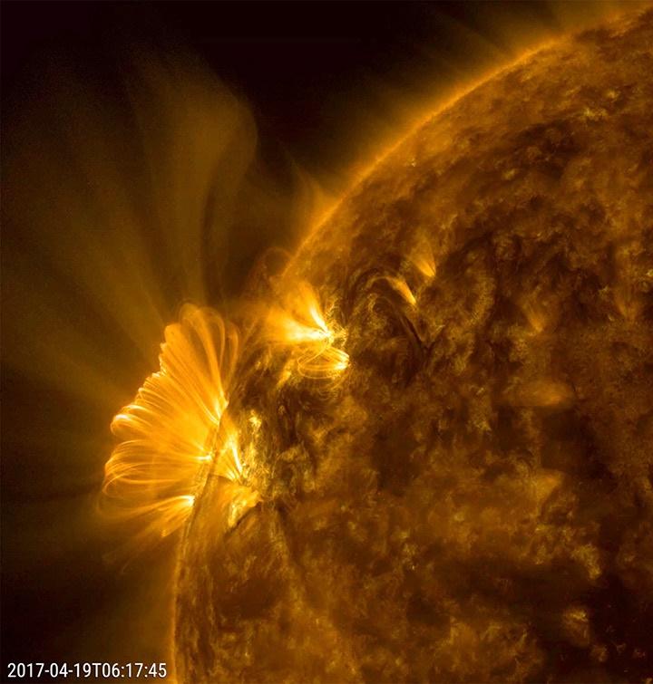 تصاویری جدید از شفافترین حلقههای کرونالی خورشیدی