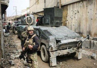 حمله سنگین نیروهای عراقی به داعش در اطراف مسجد النوری در موصل