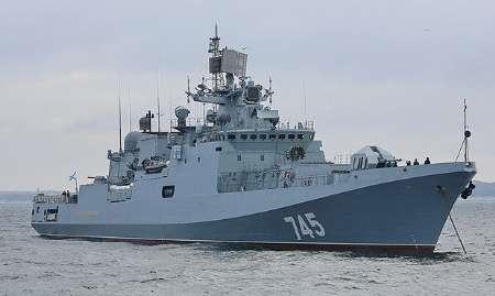 ناو موشک انداز روسیه به سواحل سوریه رسید