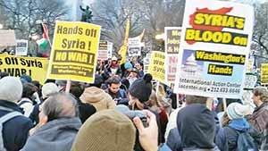 اعتراض علاوه بر تظاهرات در شهرهای مختلف جهان، در شورای امنیت هم اقدام آمریکا با حمله این کشور  به عر